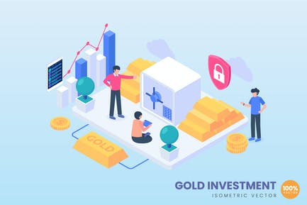 Gold Investment Concept Illustration