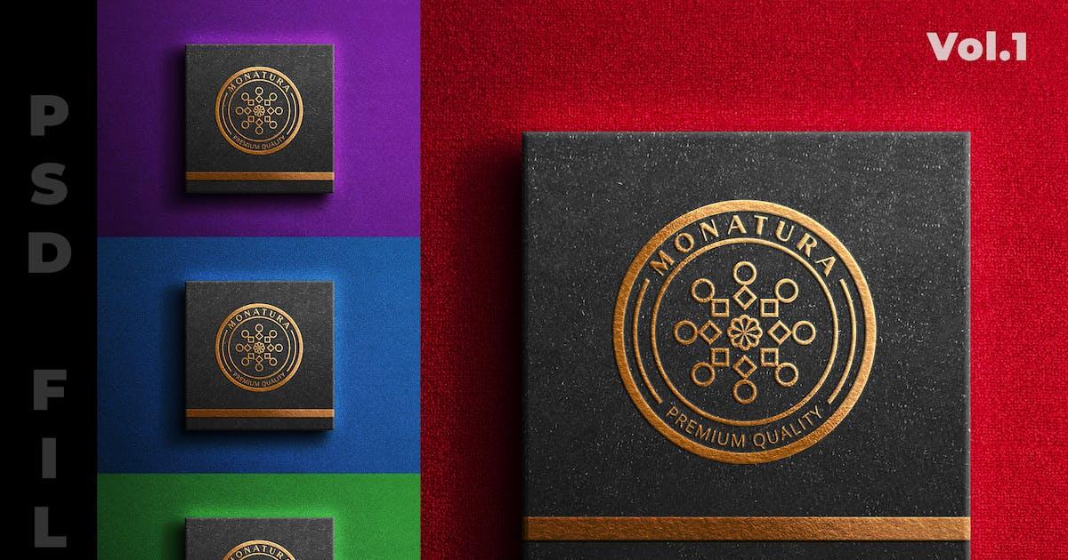 Download Luxury Box : Logo Mockup by modaldesain