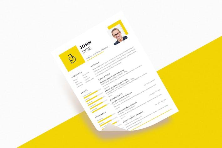 Thumbnail for Graphic Designer Resume