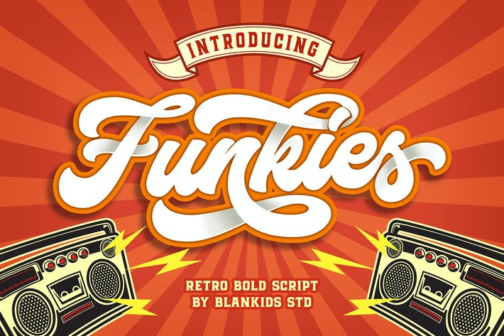 Cover Image For Funkies Bold Script Font