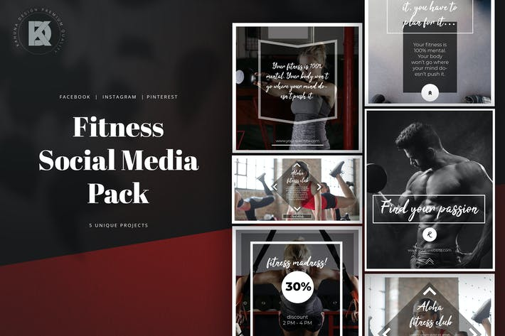 Cover Image For Fitness Social Media Pack