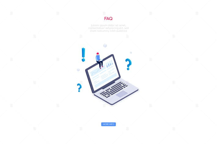 Thumbnail for Frequently asked questions - isometric banner