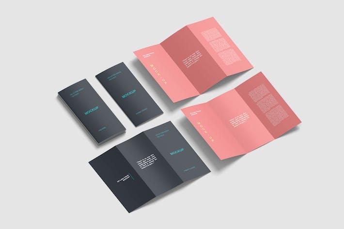 Thumbnail for Isometric US Letter Tri Fold Brochure Mockups Set