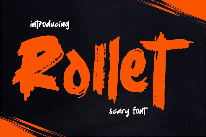 Thumbnail for Rollet | Scary Font