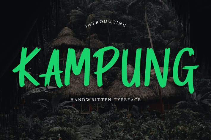 Thumbnail for Kampung Brush Handwritten Font