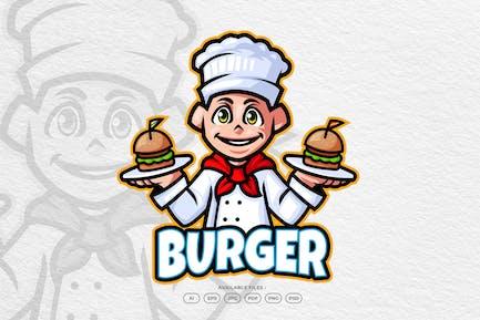 Burger Chef Restaurant Mascot Logo