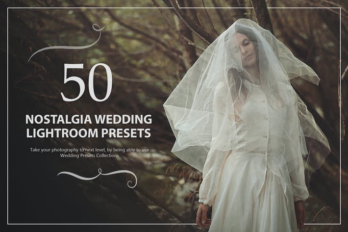 Thumbnail for 50 Nostalgia Wedding Lightroom Presets