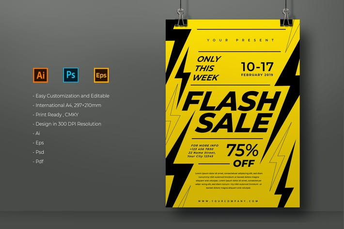 Thumbnail for Flash Sale Template
