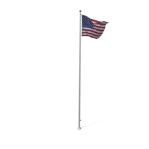 Thumbnail for Raised American Flag