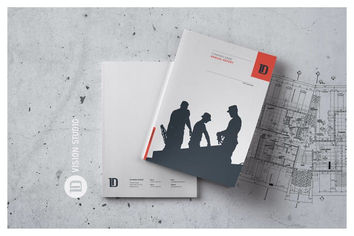 Thumbnail for Annual Report Template 001