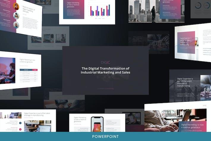 Thumbnail for Digic - Digital Marketing Powerpoint-Vorlage
