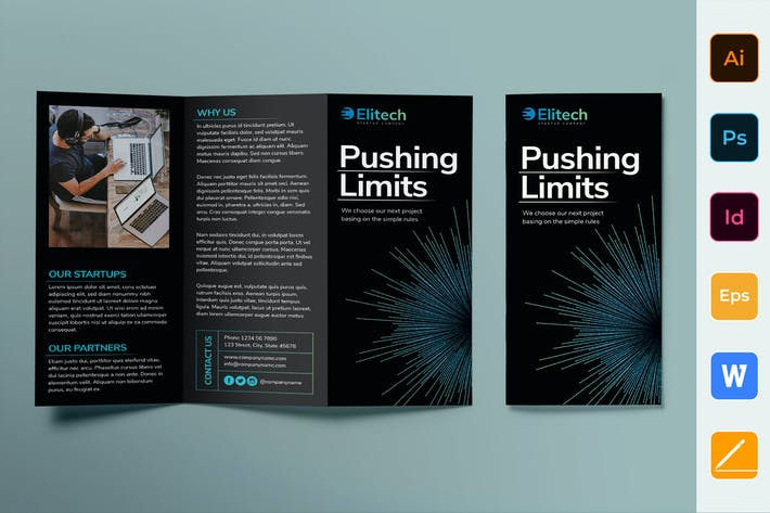 Thumbnail for Tech Startup Brochure Trifold