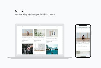 Maxima - Minimalista Blog y Revista Ghost Tema