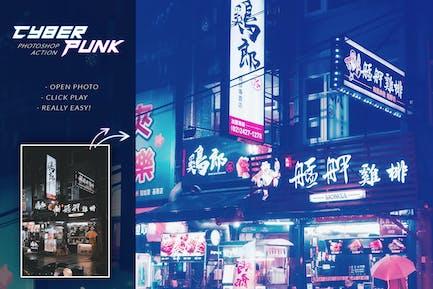 Cyberpunk Photoshop Action