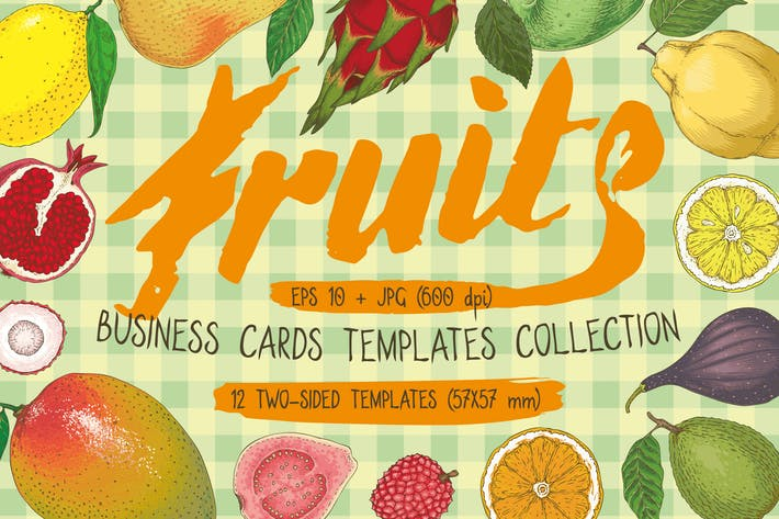 Thumbnail for Fruit Business Cards Templates