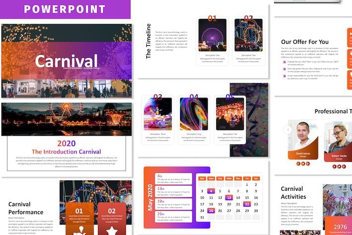 Карнавал - бизнес Шаблон Powerpoint