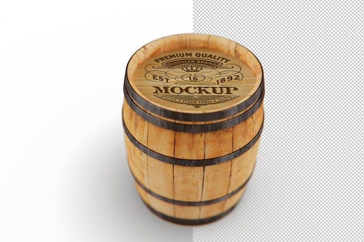 Thumbnail for Wooden Barrel Mockup