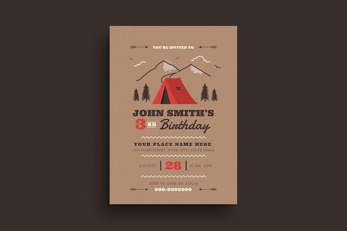 Thumbnail for Camping Birthdays Invitation