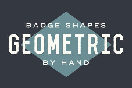 Geometric Badge Shapes by Hand