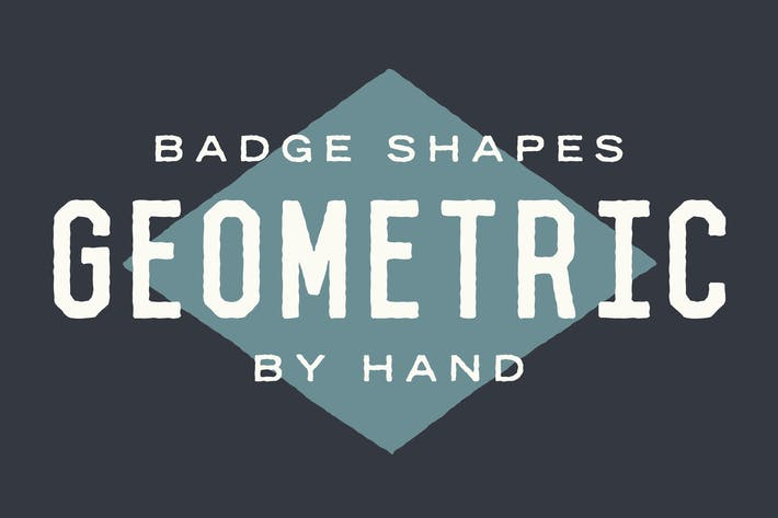Thumbnail for Geometric Badge Shapes by Hand