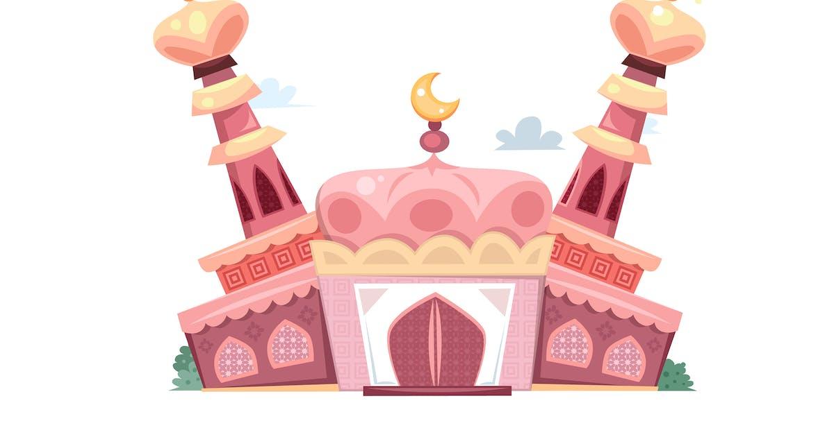 Download Pink Cartoon Mosque by MissChatZ