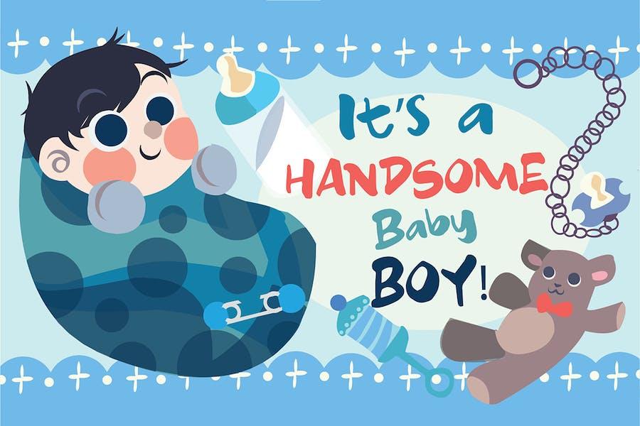 Bebé Boy - Ilustración Vector