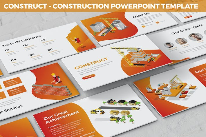 Construct - Construction Powerpoint Template