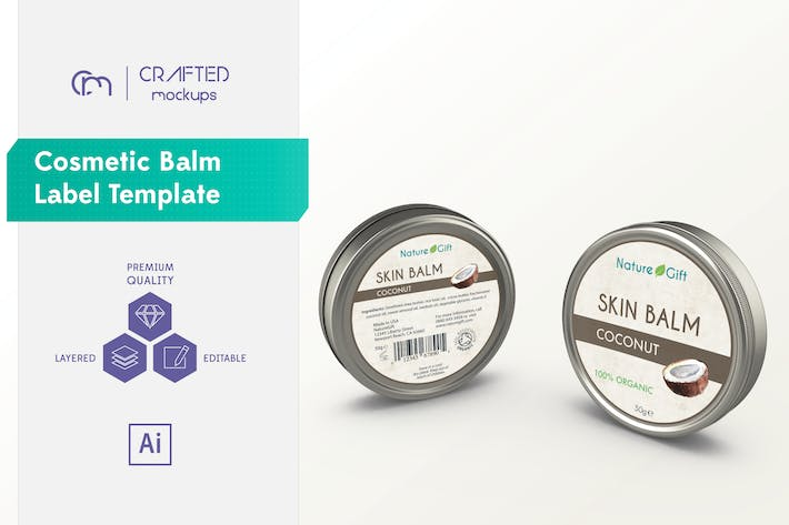 Thumbnail for Cosmetic Balm Label Template