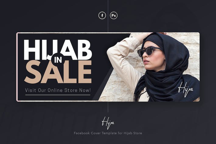 Thumbnail for Hijra - Hijab Moslem Facebook Cover Template