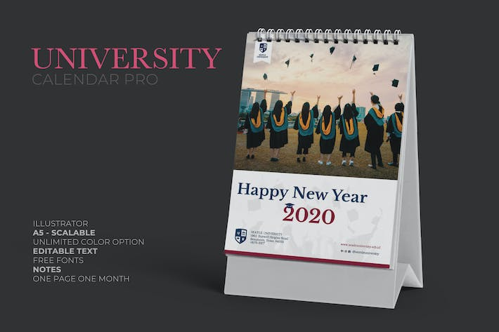 Thumbnail for 2020 University Calendar Pro