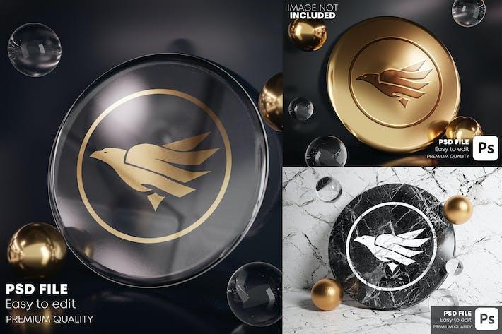 Thumbnail for Medal Logo Mockup Pack