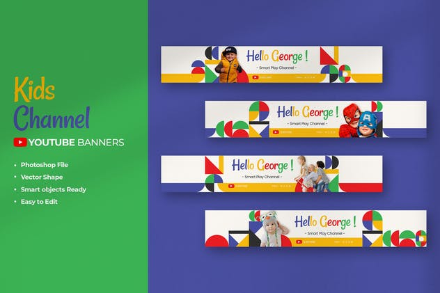 Kids Channel Youtube Banners