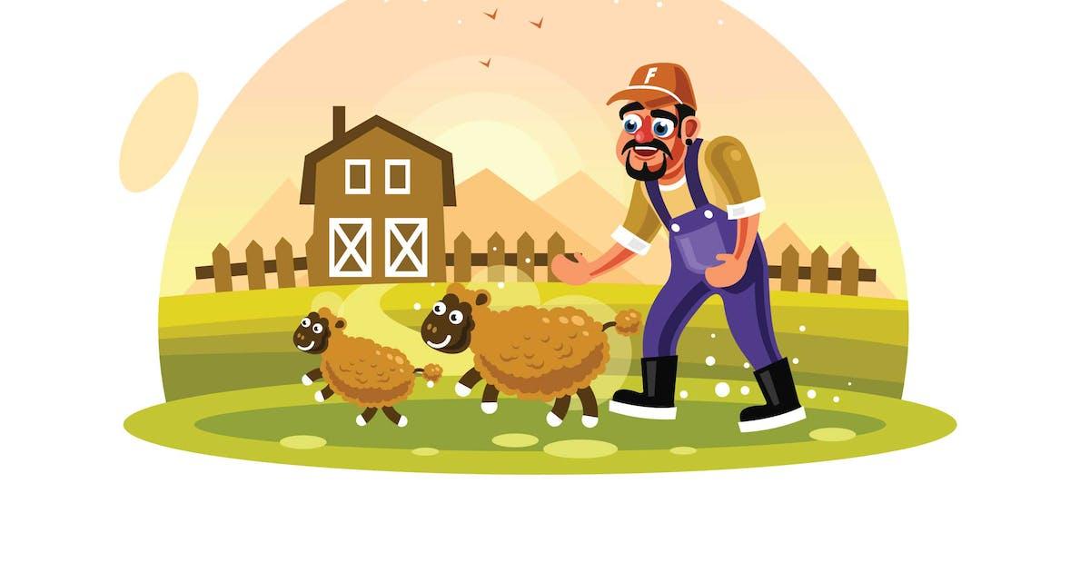 Download Farmer Breeding Sheep Wool Farm by IanMikraz