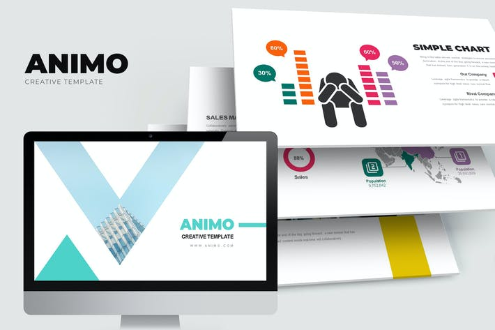 Thumbnail for Animo : Creative Neat Urban Company Powerpoint
