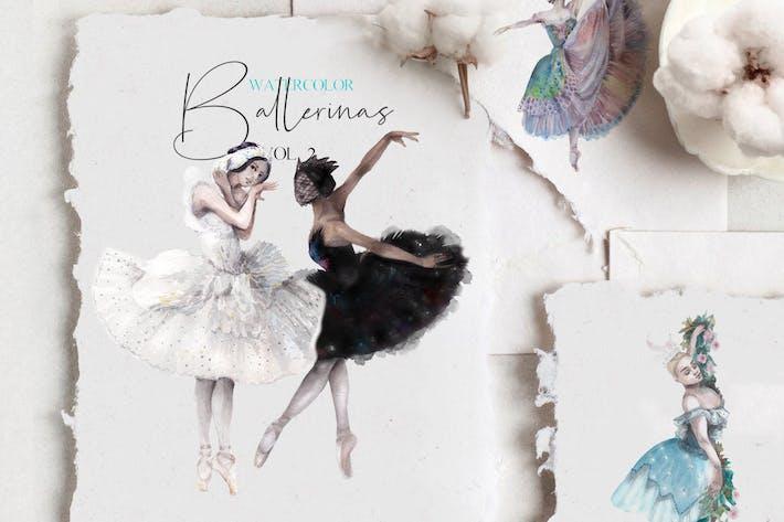 Cover Image For Watercolor ballet dancers set - vol.2