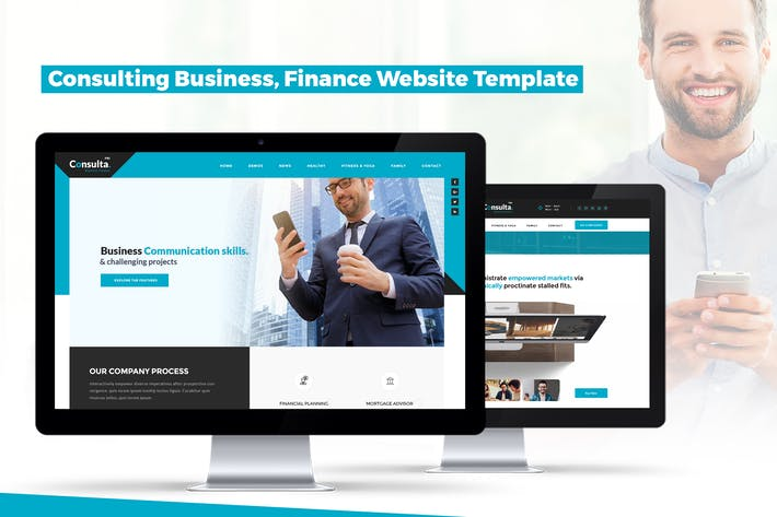 Thumbnail for Consulting Business, Finance Website Template
