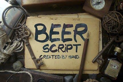 Beer Script Font
