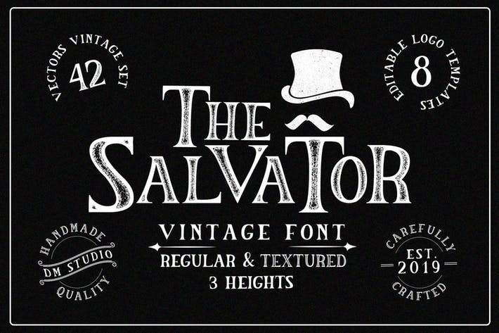 Thumbnail for The Salvator - Vintage Font Package