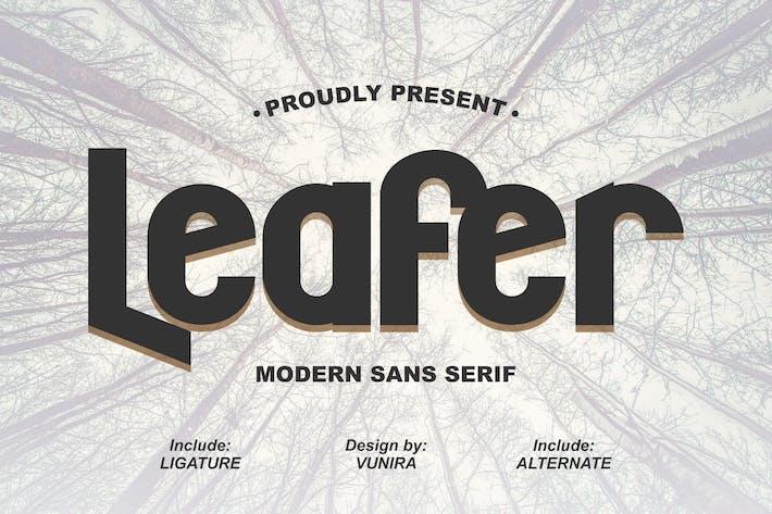 Thumbnail for Leafer | Modern Sans Serif Font