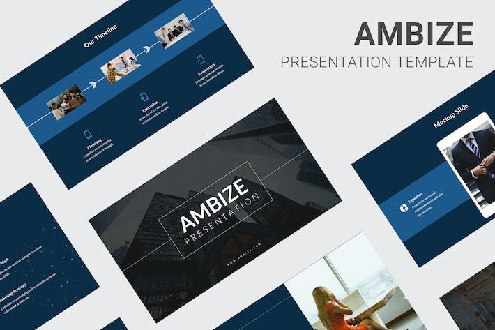Thumbnail for Ambize - Pitch Deck Google Slides
