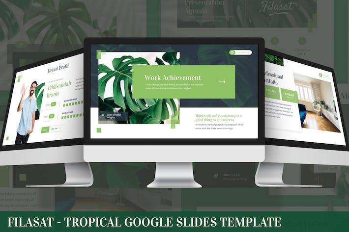Filasat - Шаблон слайдов тропических Google
