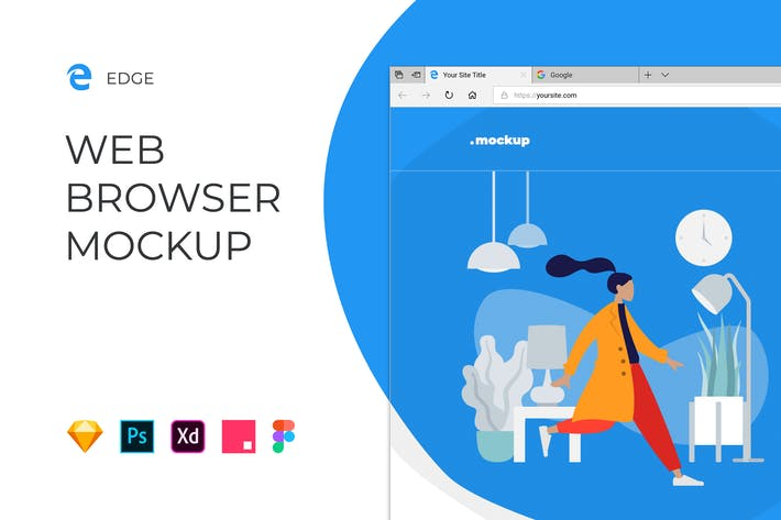 Thumbnail for Edge Browser Window – Website Mockup