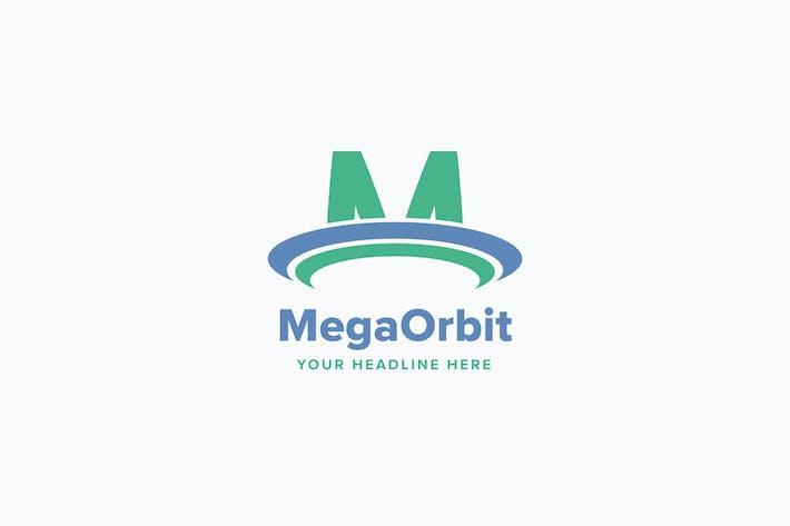 Thumbnail for Mega Orbit M Letter Logo Template