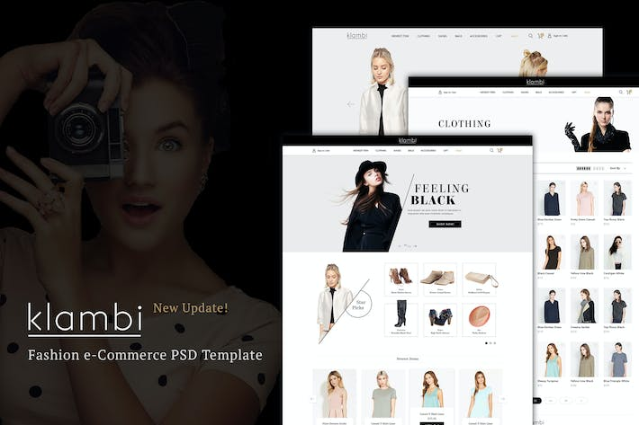 Cover Image For Klambi e-Commerce Fashion Template PSD