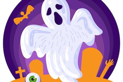 Halloween-Ghost Illustration