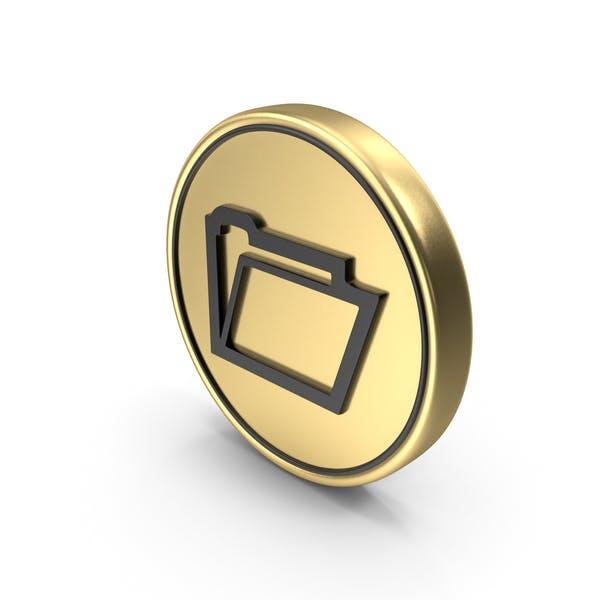 File Folder Coin Logo Icon