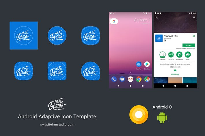 Thumbnail for Plantilla de icono adaptativo de Android