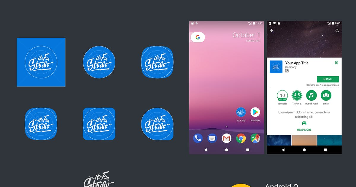 Download Android Adaptive Icon Template by itefan