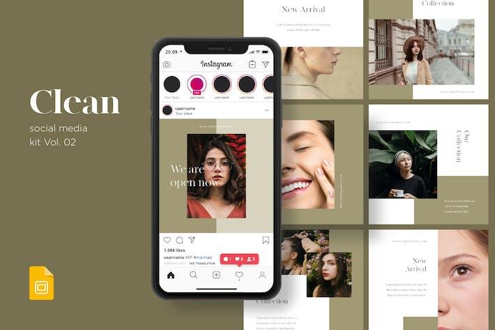 Thumbnail for Clean Social Media Kit Vol. 02 - Google Slides