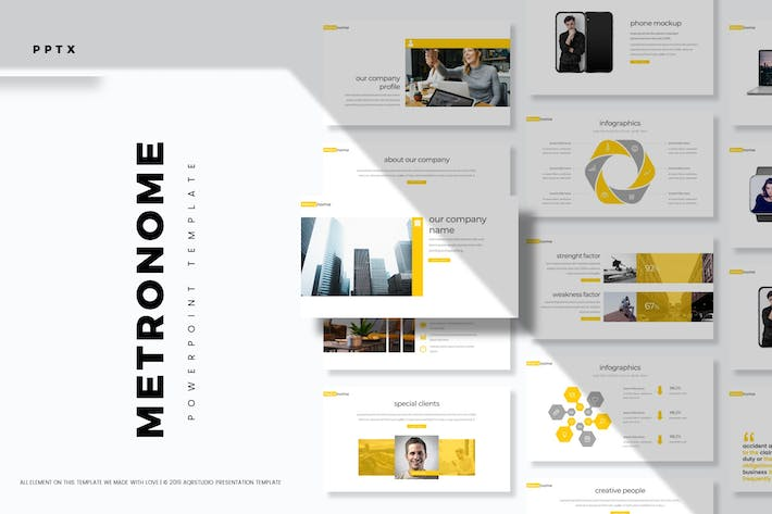 Cover Image For Metronome - Powerpoint Template